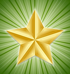 big golden star vector image vector image