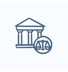Court sketch icon vector