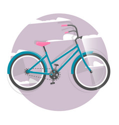 cycling concept bicycle bright vector image
