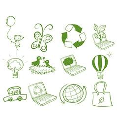 Eco-friendly designs vector image