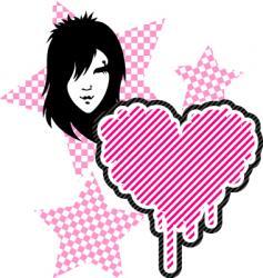 Emo heart vector