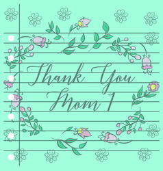 Flower background greeting card vector