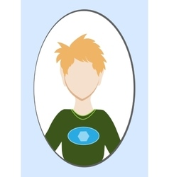 Male avatar or pictogram for social networks vector image