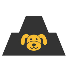 Puppy citadel flat icon vector