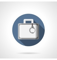 Secret case flat color round icon vector image vector image