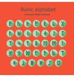 Set of old norse scandinavian runes vector
