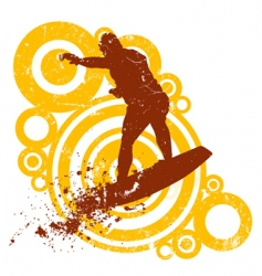 style surfing vector image