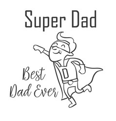 Super dad style for father day vector