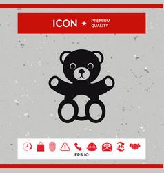 teddy bear icon vector image