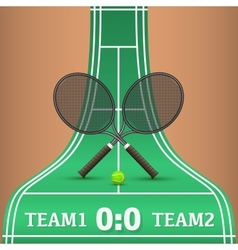 Tennis competitions vector image vector image