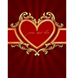 vertical label with a heart vector image