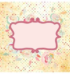Vintage dots Rose Floral Card vector image