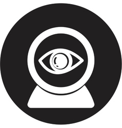 Web camera eye icon vector image