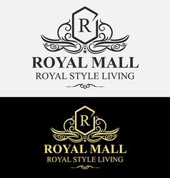 Heraldic Royal Luxurious Crest Logo vector image