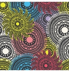 Abstract hand drawn background zentangle vector