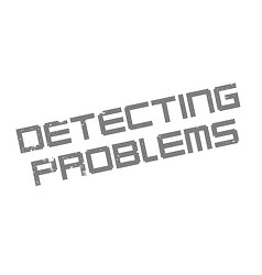 Detecting problems rubber stamp vector