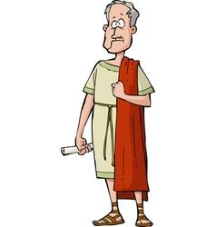 Roman senator vector image