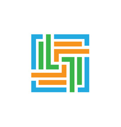 square business finance logo vector image