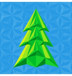 abstract-green-christmas-tree-on-blue vector image