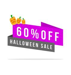 Halloween theme price label style vector