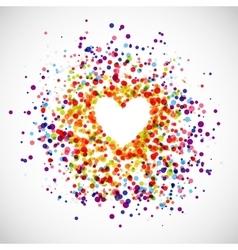 Rainbow Love Background vector image