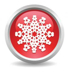Button snow vector