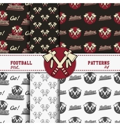 Set of american football patterns usa sports vector