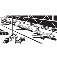 Aviation industry plant vector