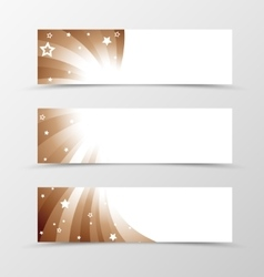Set of banner swirl design vector image