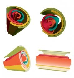 Abstarct rainbow designs vector