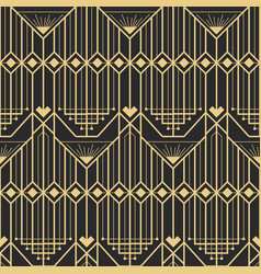Abstract art deco modern style seamless pattern vector