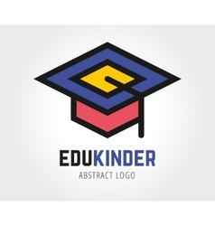 Abstract education logo template for vector