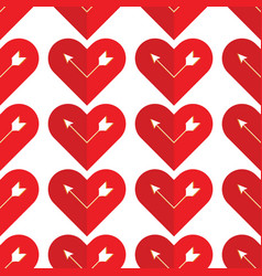 Abstract holiday pattern with a arrow in the heart vector