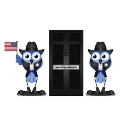 American embassy vector