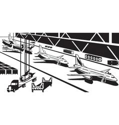 Aviation industry plant vector
