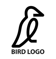 bird abstract logo vector image vector image