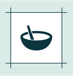 bowl icon simple cooking vector image vector image