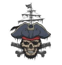 Captain and pirate attributes vector image