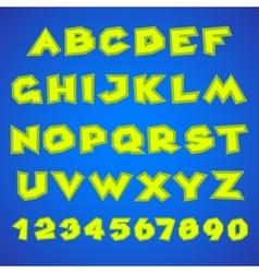 Decorative alphabet simple bold vector