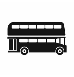 Double decker bus icon simple style vector