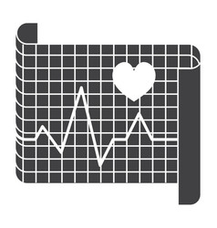 Electrocardiography icon vector