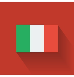 Flat flag of Italy vector image