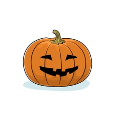 Halloween grinning pumpkin vector