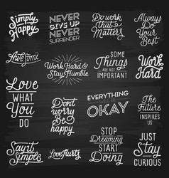 hand drawn lettering slogans vector image vector image