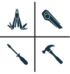handtools icons set collection of turn-screw vector image vector image