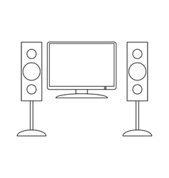 Home cinema with sound speaker icon vector image