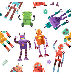 kids toy robot humanoid spaceman cyborg vector image vector image
