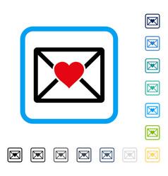 Love letter framed icon vector