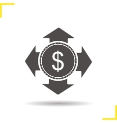 Money spending icon vector image vector image
