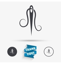 Needle with thread icon Tailor sign vector image vector image